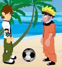 Juego de ben et naruto de football