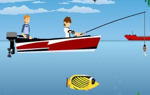 Juego de pesca con ben 10